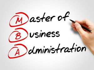 MBA - Master of Business Administration, acronym business concep